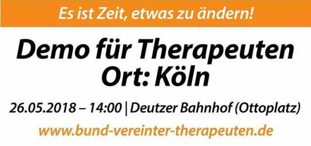 26.5.2018: Demo für Therapeuten in Köln